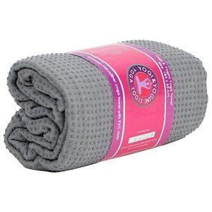Yoga-Handtuch PVC rutschfest grau