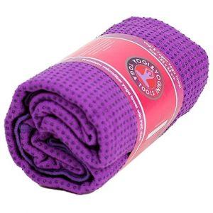 Yoga-Handtuch PVC rutschfest violett