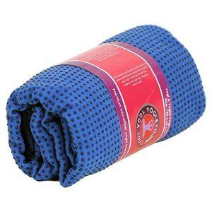 Yoga-Handtuch PVC rutschfest blau