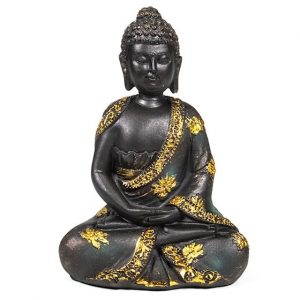 Meditationsbuddha Antikes Finish -16 cm