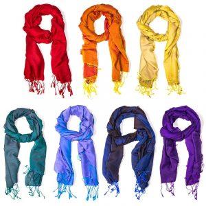 SET aus 7 Chakra Schals