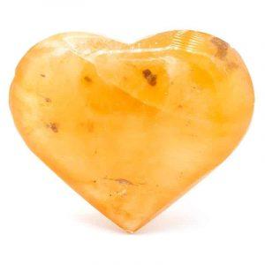 Handschmeichler Herz Selenit orange (6,5 x 6 cm)