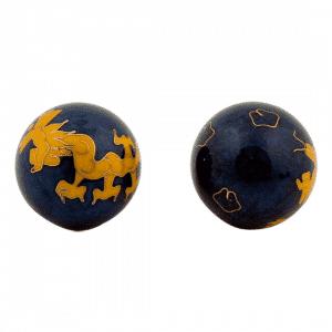 Meridiankugeln - gelber Drache