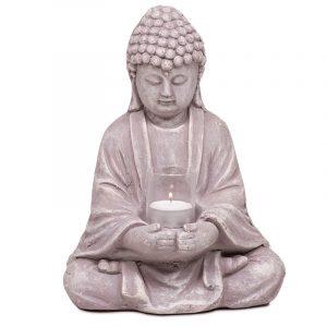 Buddha mit Kerzenhalter - 28 cm