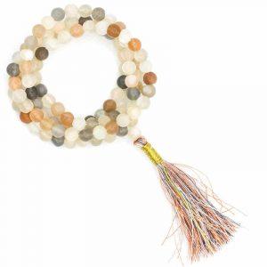 Mala Mondstein AA Qualität 108 Perlen mit Brokatbeutel