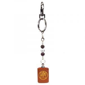 Schlüsselanhänger 1. Chakra Muladhara - rotem Jaspis