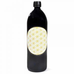Trinkflasche Miron violett, Dekoration goldfarbig