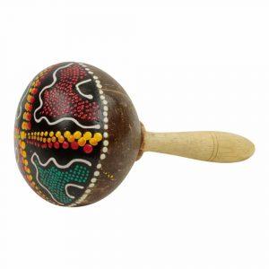 Sambaball mit farbigen Punkten Grün-Braun