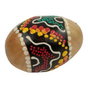 Handgefärbte Maracas Ei / Samba Ball Gelb-Braun S