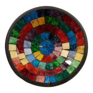 Schale Mosaik Regenbogenfarben (27,5 x 27,5 x 7 cm)