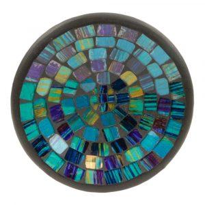 Schale Mosaik Dunkelblau - Grün (16 x 16 x 3 cm)