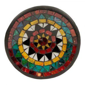 Schale Mosaik Stern Design (15 x 15 x 3 cm)