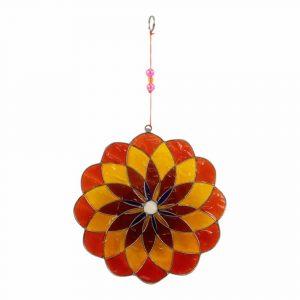 Fensterdekoration Mandala Mehrfarbig