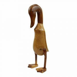 Statue aus Holz Ente Natürlich Braun (44 x 22 x 14 cm)