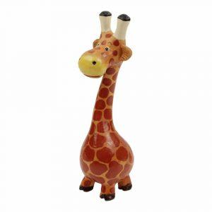 Statue aus Holz Giraffe mit Bauch (26 x 9 x 8 cm)