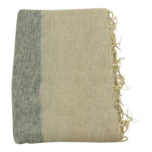 Tischdecke / Plaid aus Baumwolle Stripes Grün (230 x 115 cm)