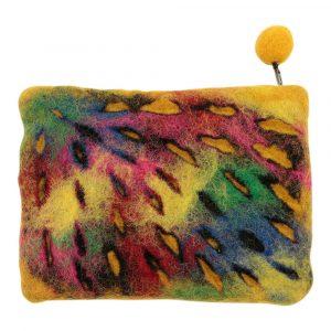 Portemonnaie aus Filz Tie Dye Multicolor