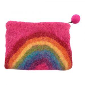 Portemonnaie aus Filz Regenbogen