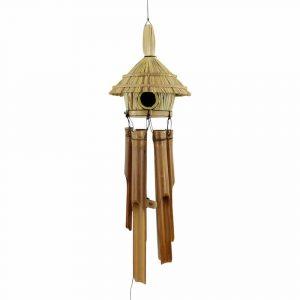 Windspiel mit Vogelhaus (95 x 13 x 13 cm)