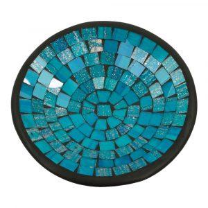 Blaue Mosaik Schale (21 x 21 x 5 cm)