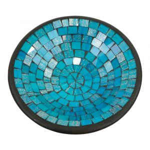 Blaue Mosaik Schale (28 x 28 x 7 cm)