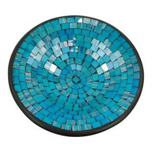 Blaue Mosaik Schale (36 x 36 x 10 cm)