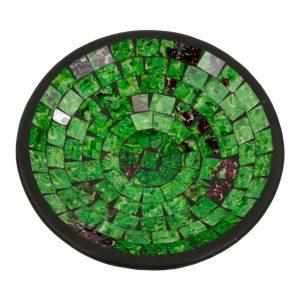 Mosaik Schale Grün (21 x 21 x 5 cm)