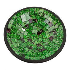Mosaik Schale Grün (28 x 28 x 7 cm)