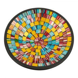 Schale Mosaik Regenbogenfarbig (28 x 28 x 7 cm)