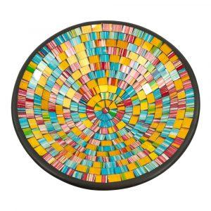 Schale Mosaik Regenbogenfarbig (36 x 36 x 10 cm)