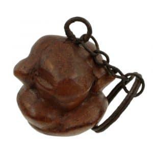 Schlüsselanhänger Yogi aus Holz (9 x 3 x 3 cm)