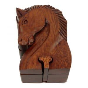 Holzkiste Pferdekopf (12 x 8 cm)