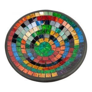 Schale Mosaik Regenbogenfarben (28 cm)