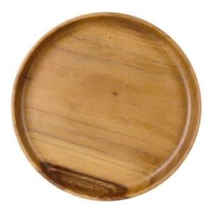 Runde Schale aus Holz, dekorativ (22 x 3 cm)
