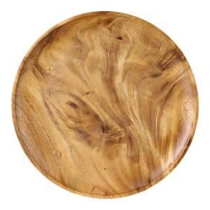 Runde Schale aus Holz (30 x 3 cm)