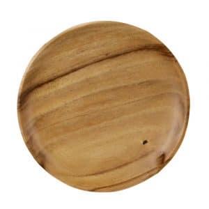 Runder Frühstücksteller aus Holz (17 cm)