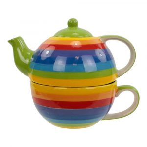 Tea for One Satz Regenbogen Keramik
