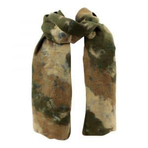 Schal aus Filz Camouflage Grün