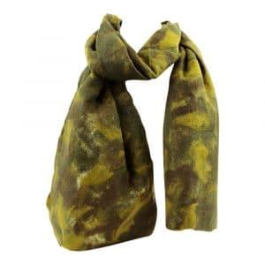 Schal aus Filz Dunkelgrün