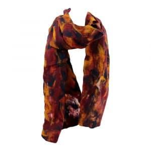 Schal aus Filz Rot-Orange