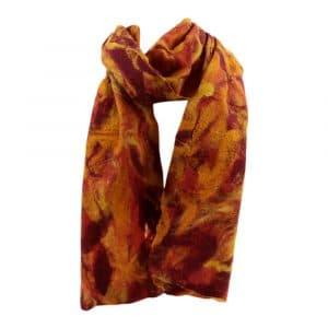 Schal aus Filz Orange-Rot