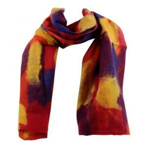 Schal aus Filz Mehrfarbig