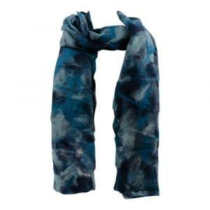 Schal aus Filz Denim Blau