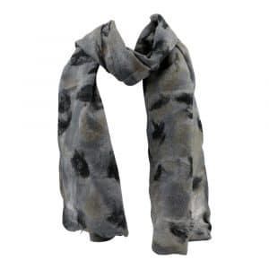 Schal aus Filz Grau-Schwarz