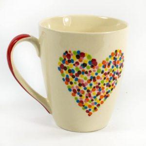 Keramik-Becher Herzen (10 cm)