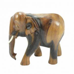 Statue aus Holz Elefant (20 cm)