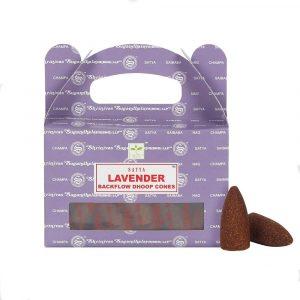 Satya Backflow-Räucherkegel Lavendel (24 Kegel)