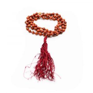 Edelsteine Mala Roter Jaspis - 108 Perlen
