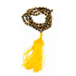 Edelstein Mala Tigerauge - 108 Perlen