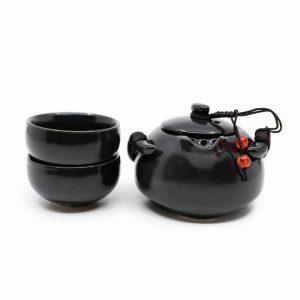 Traditionelles chinesisches Teeservice Schwarz